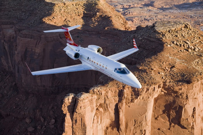 Learjet 45 for charter hire with Exact Aviation