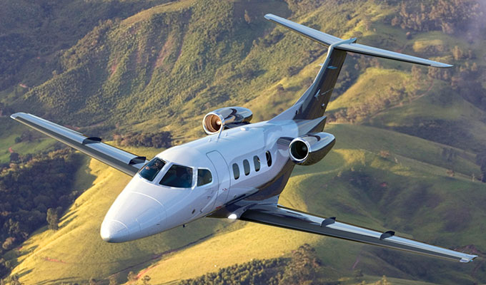 Phenom 100 for charter hire with Exact Aviation