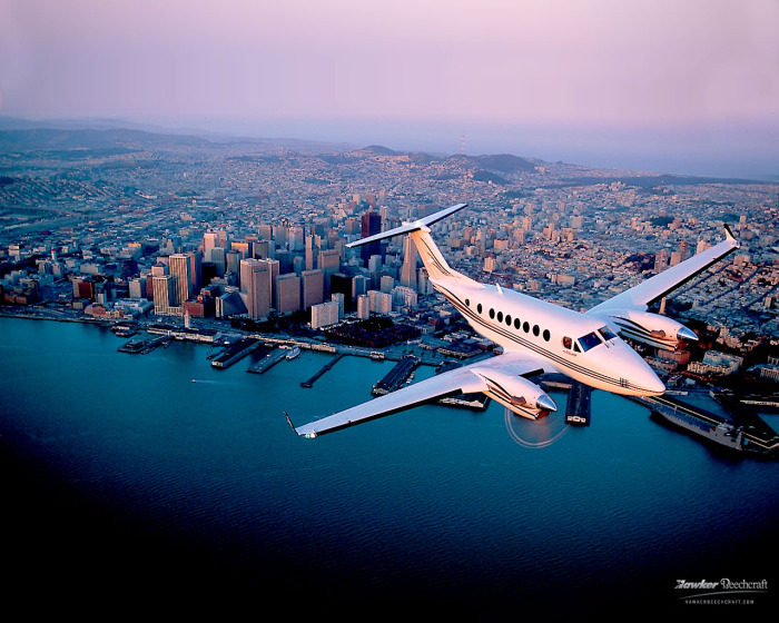 Beech King Air 350 for charter hire with Exact Aviation