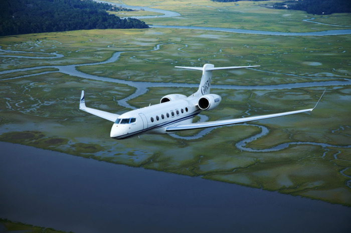 Gulfstream G650 for charter hire with Exact Aviation